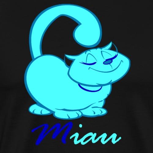 Katze Miau blau Kater Kätzchen Haustier coole Katz - Männer Premium T-Shirt