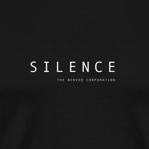 Silence text and corp neg 01 - Men's Premium T-Shirt