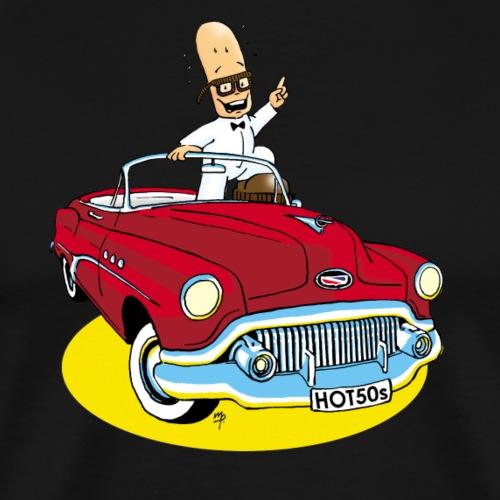Herr Bohnemann im Buick - Männer Premium T-Shirt