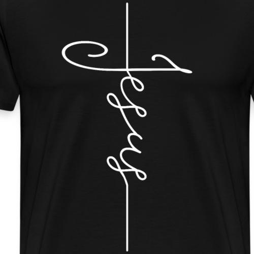 Jesus Kreuz Kirche Gott Christlich Katholisch - Männer Premium T-Shirt