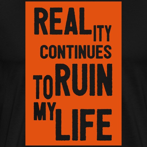 reality continues_solid - Männer Premium T-Shirt