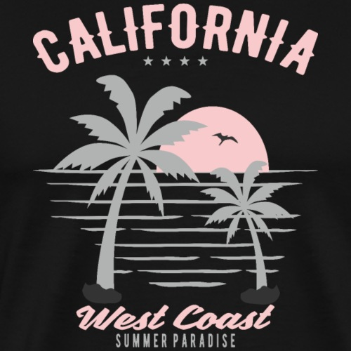 Sommer Sommer Sonne Palmen Meer Strand Geschenk - Männer Premium T-Shirt