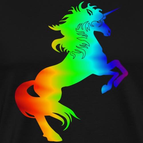 Einhhorn steigend c - Männer Premium T-Shirt
