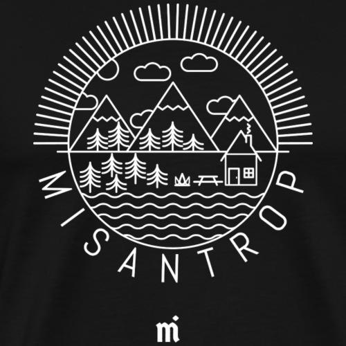 Misantrop - Vitt tryck - Premium-T-shirt herr