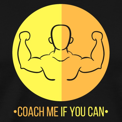Muscle jaune orange - T-shirt Premium Homme