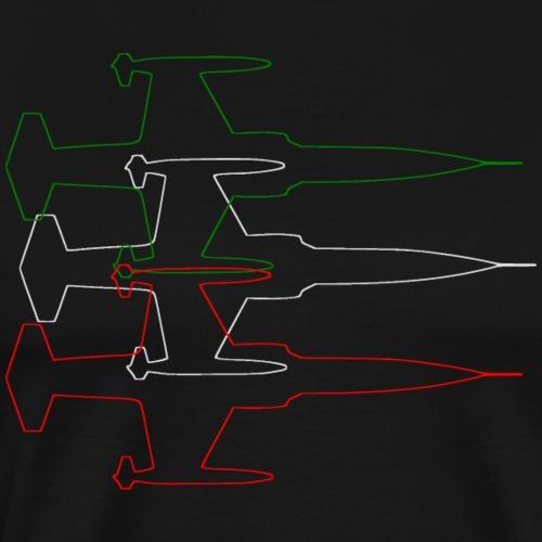 F104 TRICOLORE - Maglietta Premium da uomo