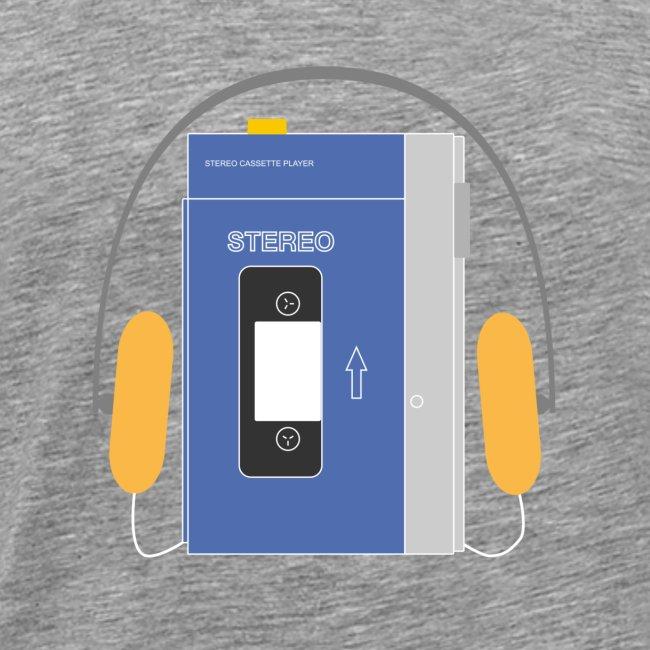 Stereo walkman in blue