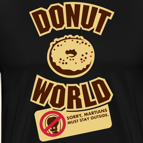 Donut World, dreifarbig - Männer Premium T-Shirt