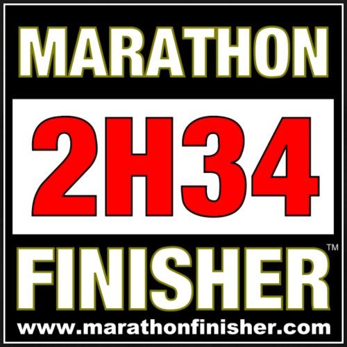 MARATHON FINISHER 2H34