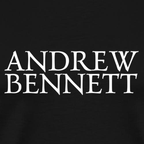Andrew Bennett Logo blanc - T-shirt Premium Homme