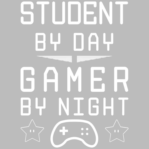 student by day gamer by night - Männer Premium T-Shirt