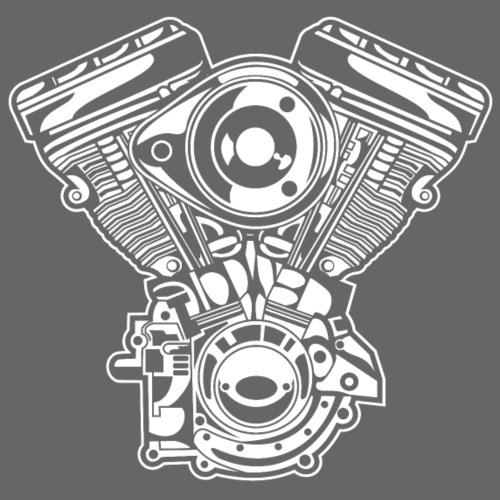 Motorrad Motor / Engine 01_weiß - Männer Premium T-Shirt
