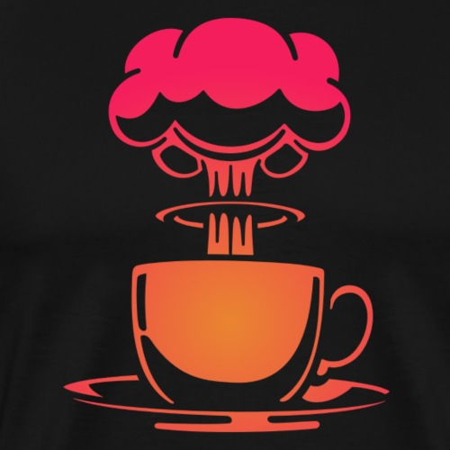 Atom coffee - Premium-T-shirt herr