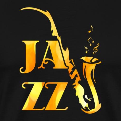 Jazz Tribal Saxophon - Männer Premium T-Shirt