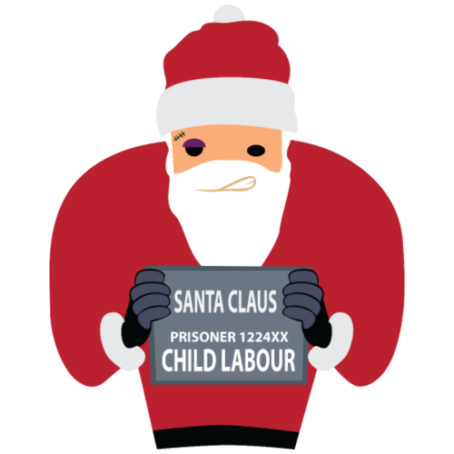 Santa im Gefängnis   Weihnachtsmann Claus - Männer Premium T-Shirt