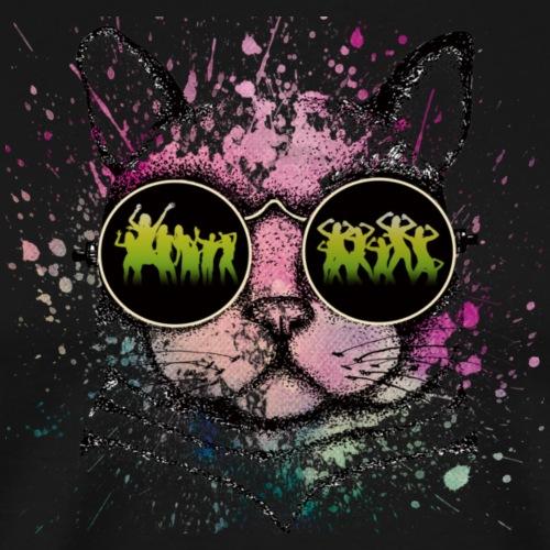 coole Katze mit Sonnenbrille - Männer Premium T-Shirt