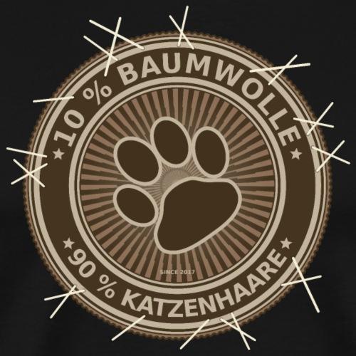 Witziges Etikett 10% Baumwolle, 90% Katzenhaare - Männer Premium T-Shirt