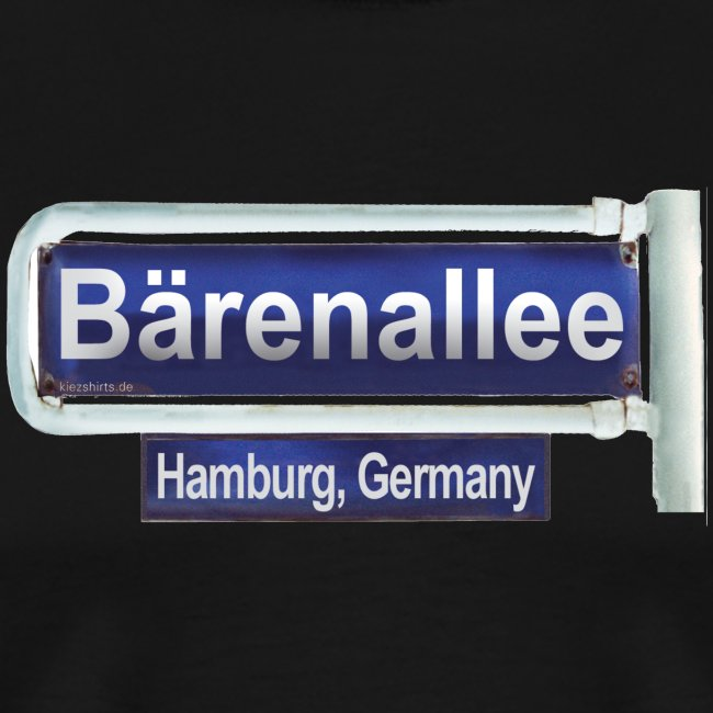 Bärenallee altes Straßenschild Hamburg