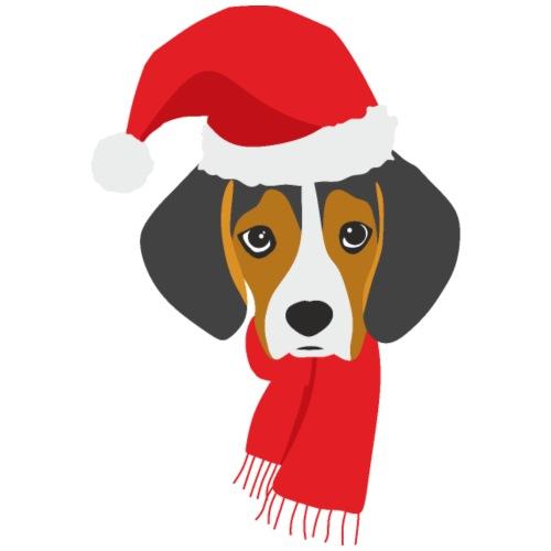 Cachorro de beagle vestido de Papa Noel - Camiseta premium hombre
