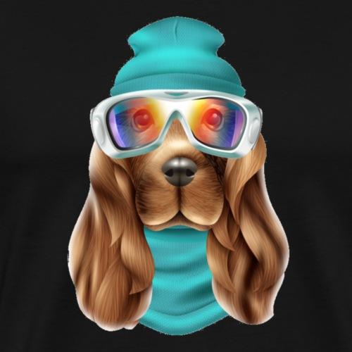 Cooler Hund , Winter Edition , Funny , LIMITIERT - Männer Premium T-Shirt