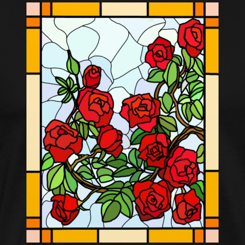 Stained Glass Roses - Men's Premium T-Shirt