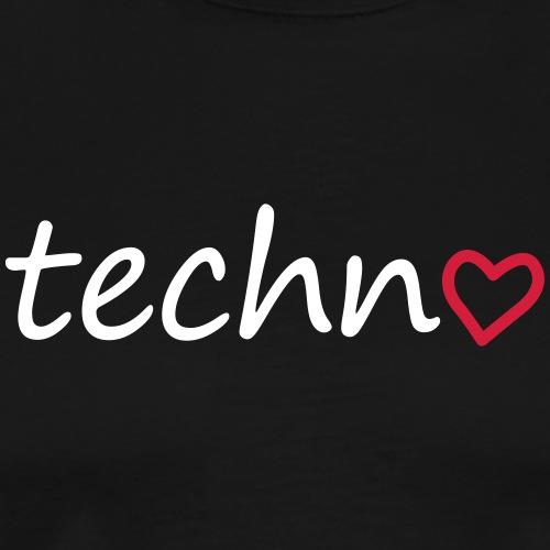 Techno Liebe PLUR Herz Raving Floorliebe Club - Männer Premium T-Shirt