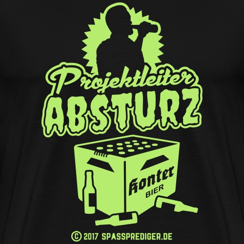 Projektleiter Absturz - Männer Premium T-Shirt