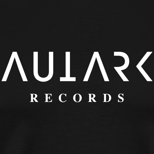 Autark Records Logo white - Männer Premium T-Shirt