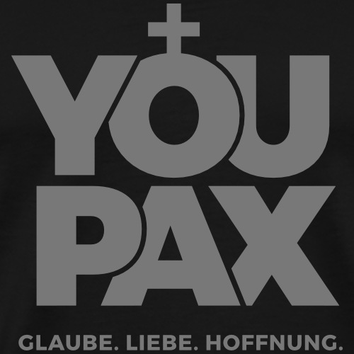 YOUPAX Logo sw - Männer Premium T-Shirt