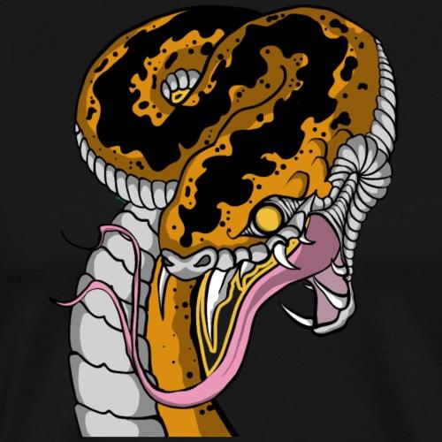 serpent asiatique sans fleurs jaune - T-shirt Premium Homme