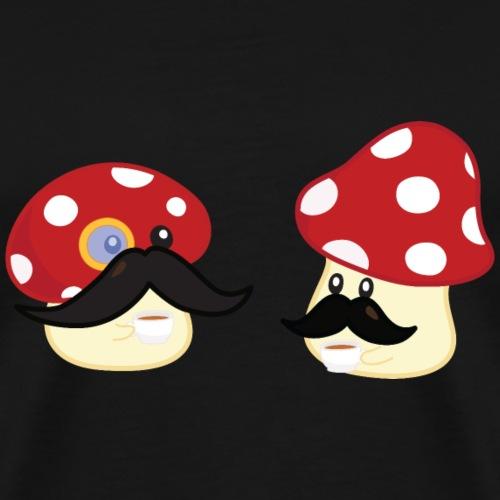 Champignons moustachus - T-shirt Premium Homme