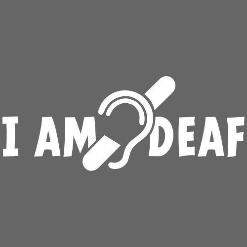 I am deaf. Ik hoor je niet. Doven, slechthorend - Mannen Premium T-shirt
