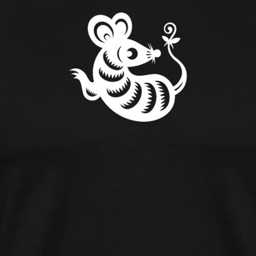 Maus in Weiss - Männer Premium T-Shirt