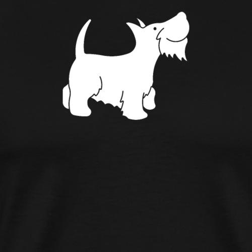 Süsser weisser Hund - Männer Premium T-Shirt