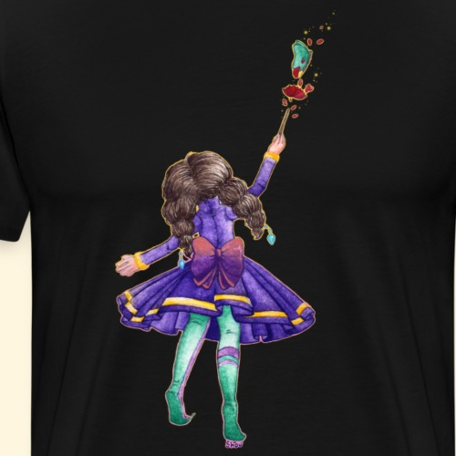 Petite sorcière - Rose et papillon - T-shirt Premium Homme