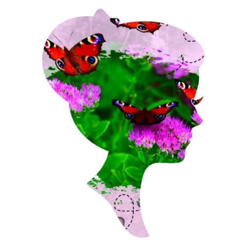 Schmetterling-Dame - Männer Premium T-Shirt