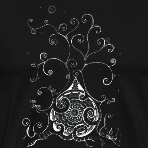 Mandala - Mutter Erde - Lebensbaum, handgemalt - Männer Premium T-Shirt