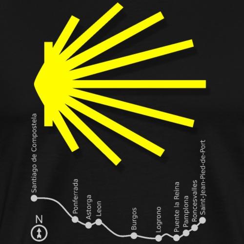 Camino Map 016 - Männer Premium T-Shirt