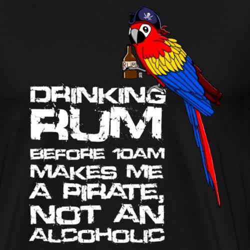 Drinking Rum white - Männer Premium T-Shirt