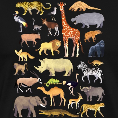 Animals of Africa 01 - T-shirt Premium Homme