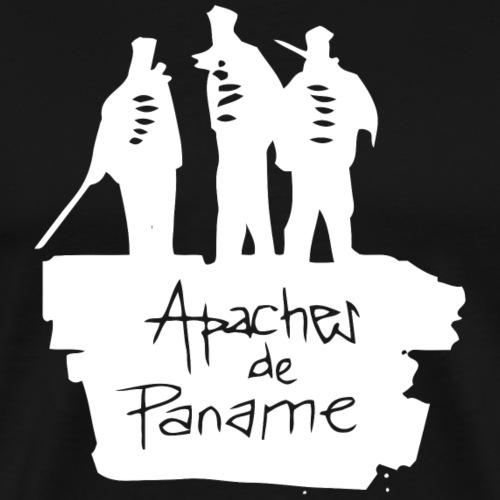logo apache blanc - T-shirt Premium Homme