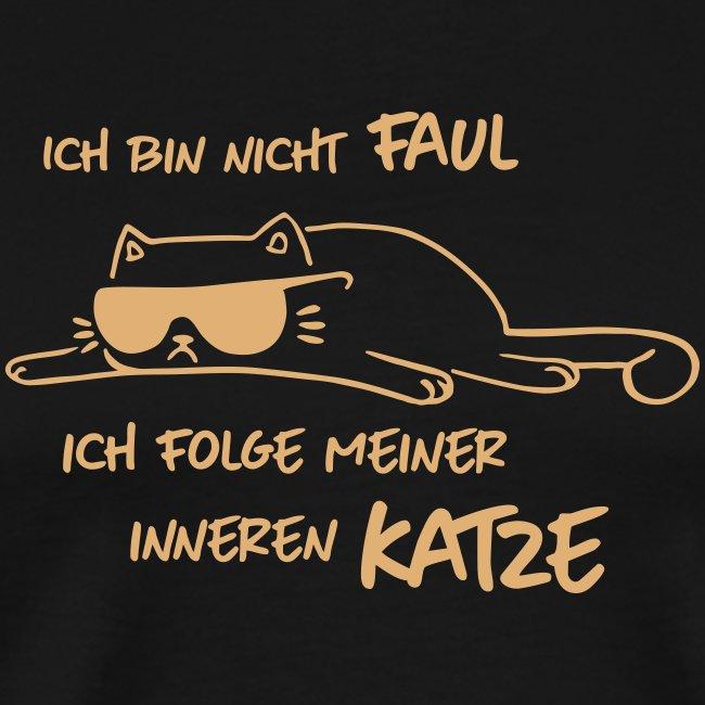 Vorschau: Faul inneren Katze - Männer Premium T-Shirt