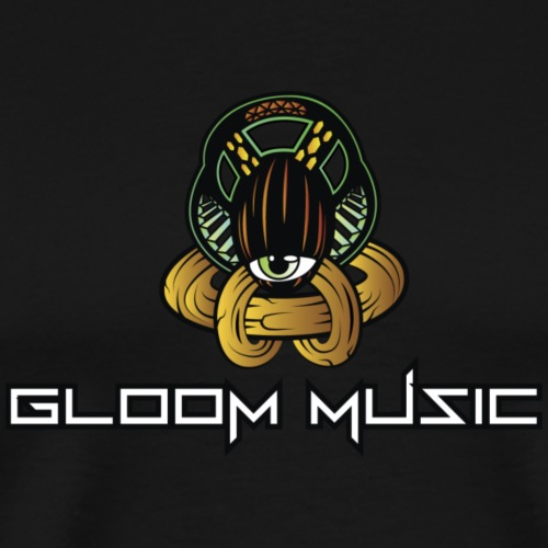 gloOm Music Front And Tree Of Life Back - Men's Premium T-Shirt