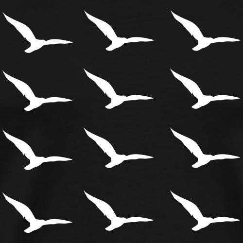 Seagulls Pattern2 - Männer Premium T-Shirt