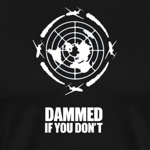 Flat Earth Chemtrail T Shirt - Men's Premium T-Shirt