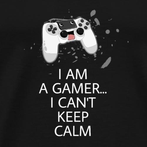 I am a gamer I can't keep calm - Männer Premium T-Shirt
