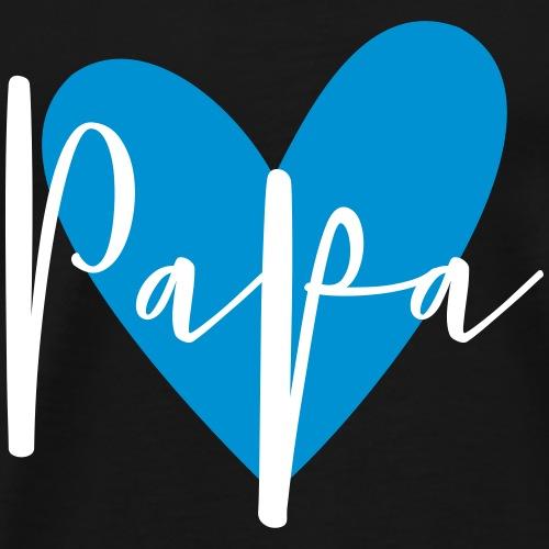 Papa Herz Liebe Familie Geschenk - Männer Premium T-Shirt