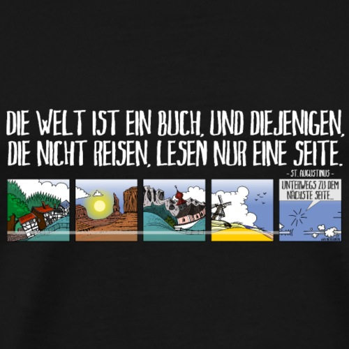just travel DE - Mannen Premium T-shirt