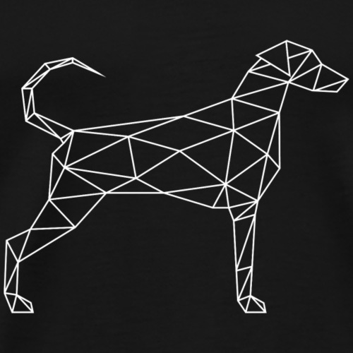 Geometric Doberman - Geometrischer Dobermann weiß