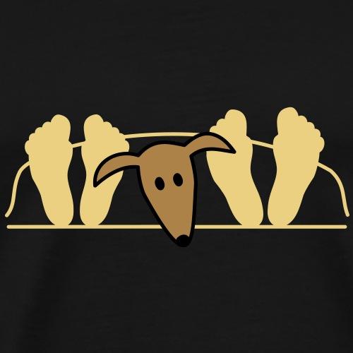 Galgo im Bett - Männer Premium T-Shirt